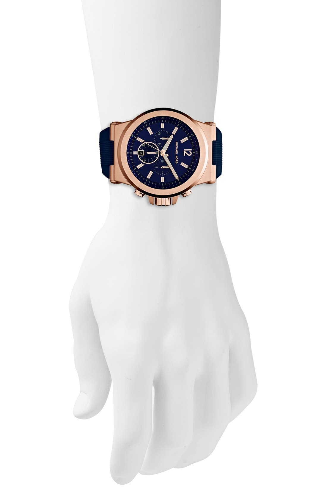 Alternate Image 4  - Michael Kors 'Dylan' Chronograph Silicone Strap Watch, 48mm