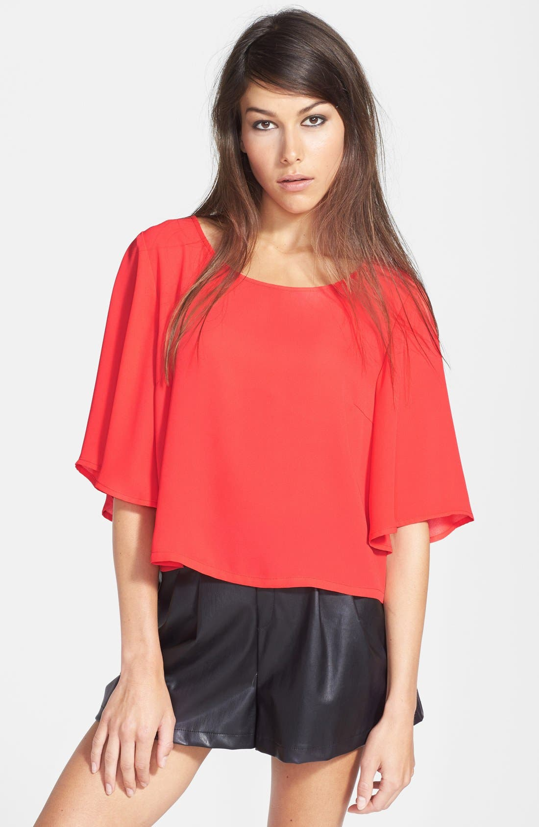 Alternate Image 1 Selected - Tildon Half Sleeve Woven Top