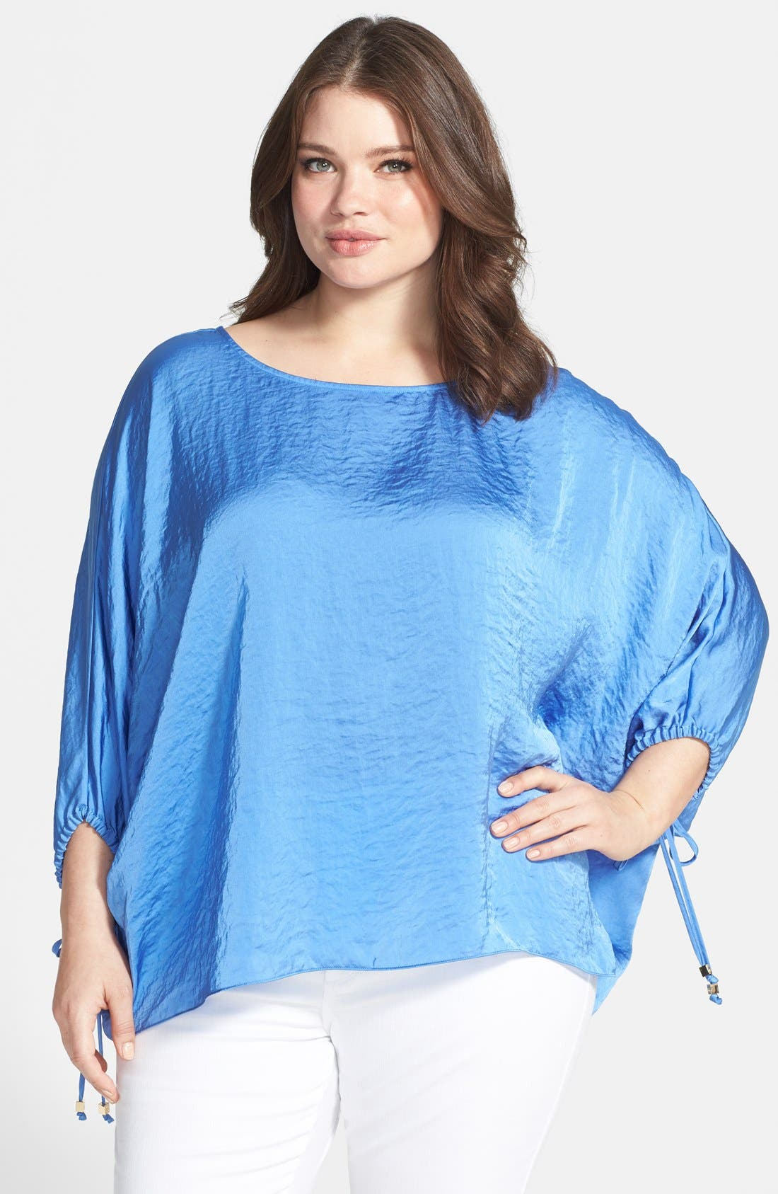 Alternate Image 1 Selected - MICHAEL Michael Kors Crushed Woven Kimono Top (Plus Size)