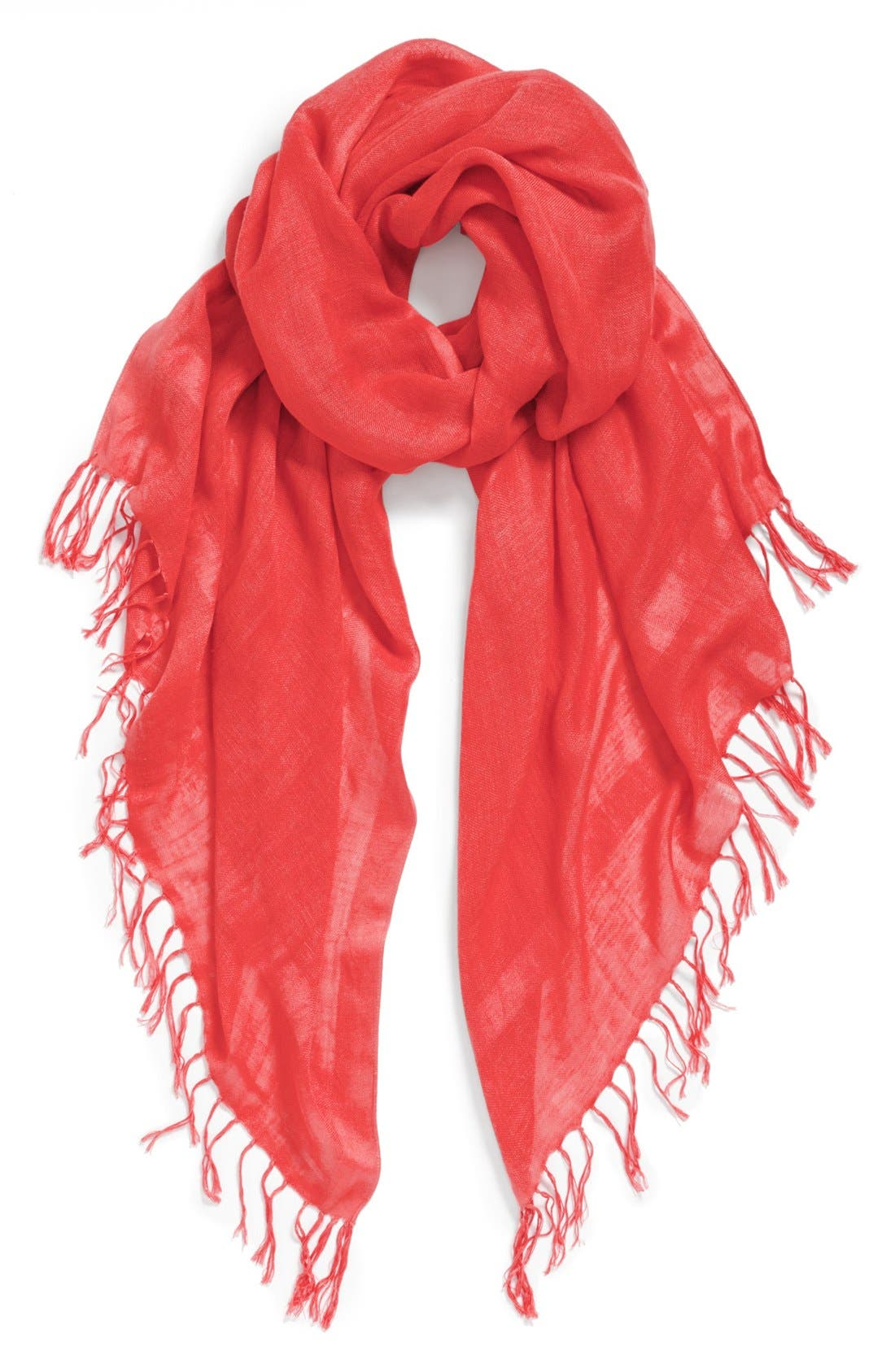 Alternate Image 1 Selected - Halogen® Linen Blend Scarf