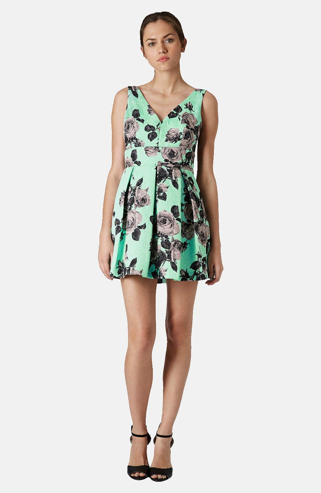 Alternate Image 5  - Topshop Floral Print Fit & Flare Dress