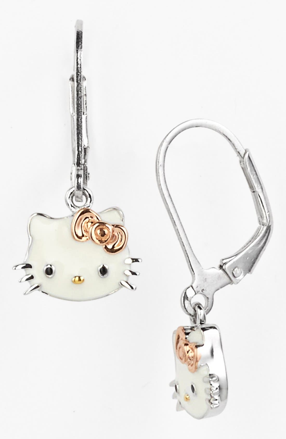Alternate Image 1 Selected - Hello Kitty® Drop Earrings (Nordstrom Exclusive)