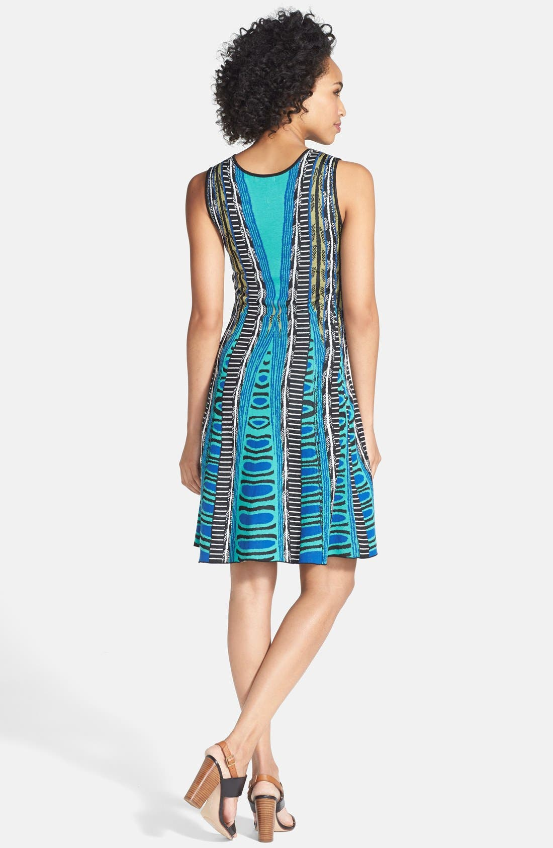 Alternate Image 2  - NIC+ZOE 'Urban Twirl' V-Neck Dress (Regular & Petite)