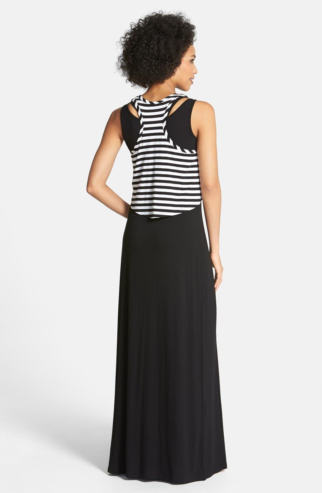 Alternate Image 2  - Halogen® Layered Maxi Dress (Regular & Petite)