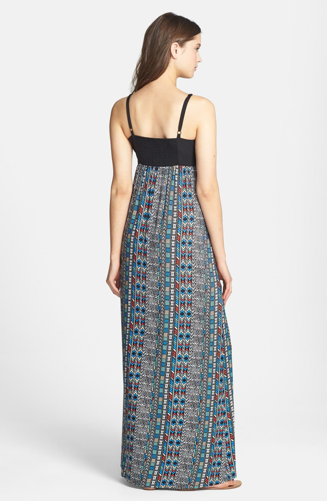 Alternate Image 2  - Maia Crochet & Print Maxi Dress