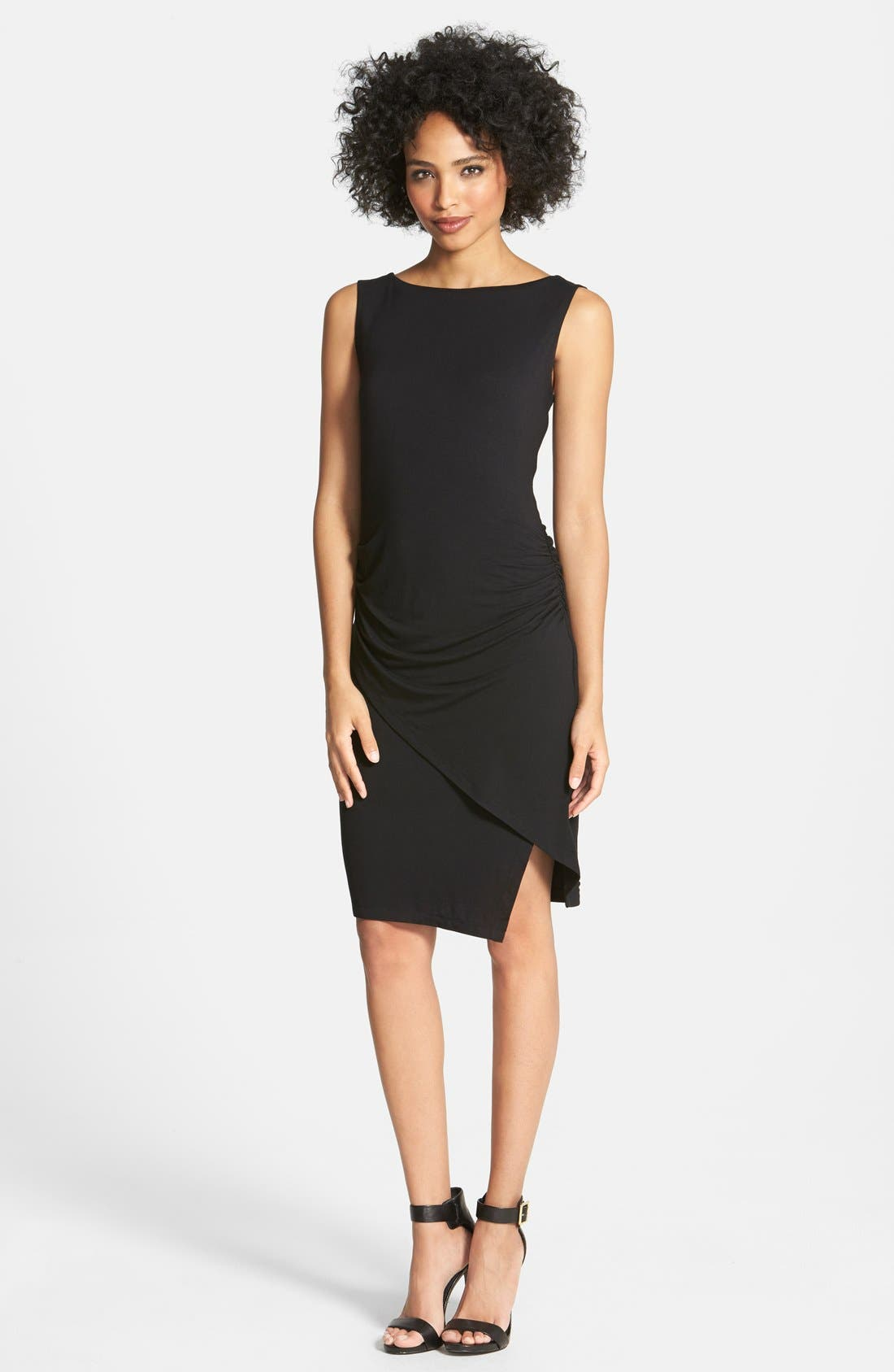 Main Image - Halogen® Ruched Faux Wrap Jersey Dress
