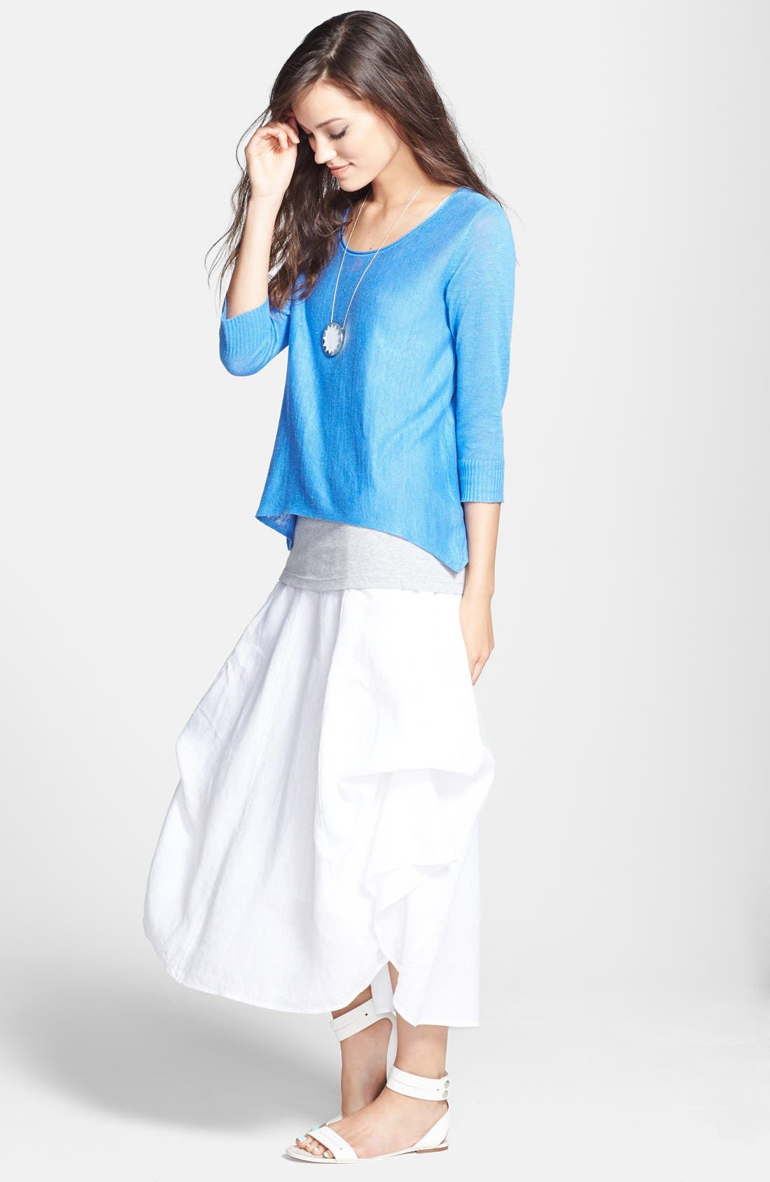 Alternate Image 5  - Eileen Fisher A-Line Linen Skirt (Regular & Petite)
