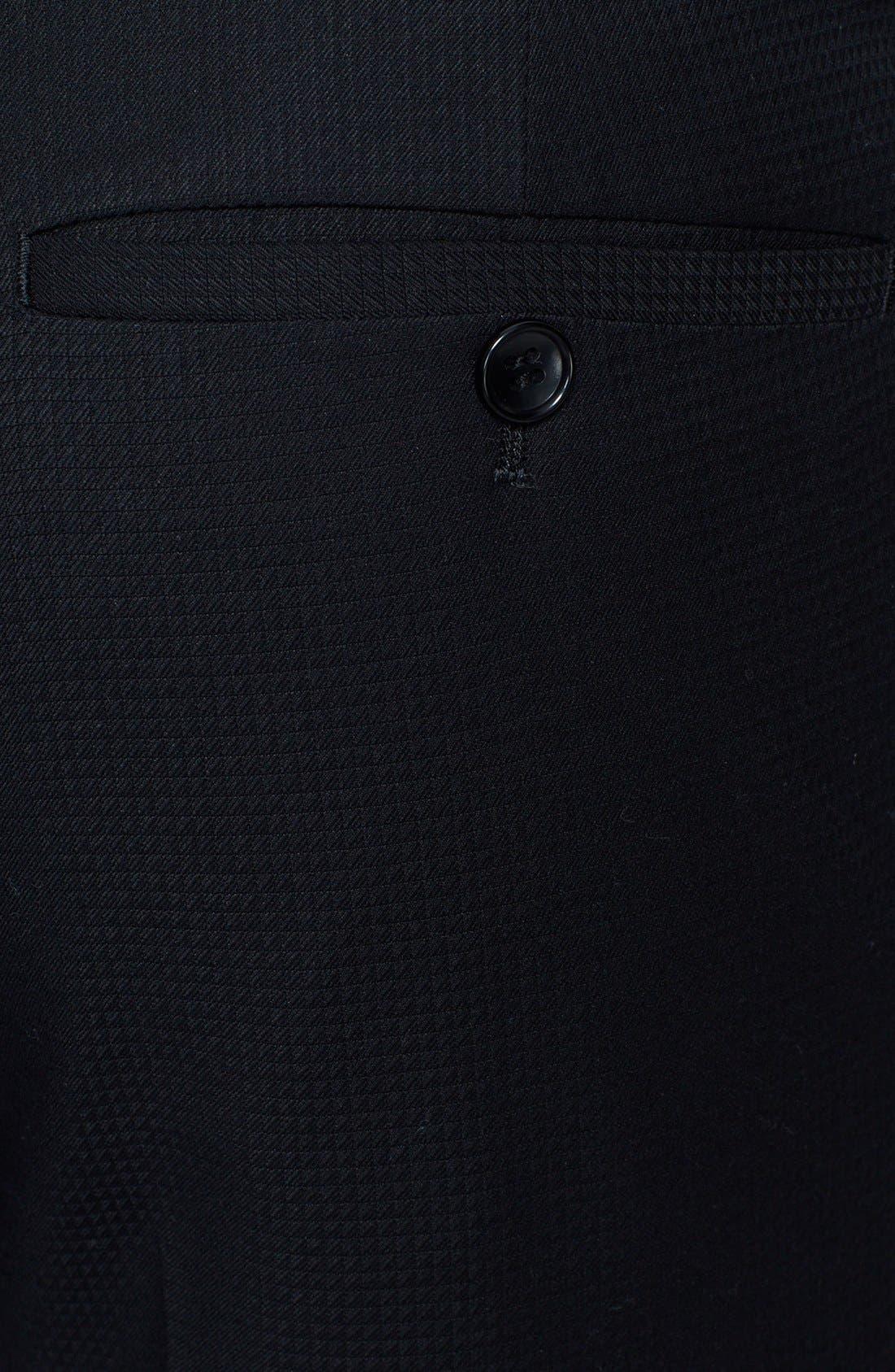 Alternate Image 3  - Topman Skinny Fit Jacquard Tuxedo Trousers