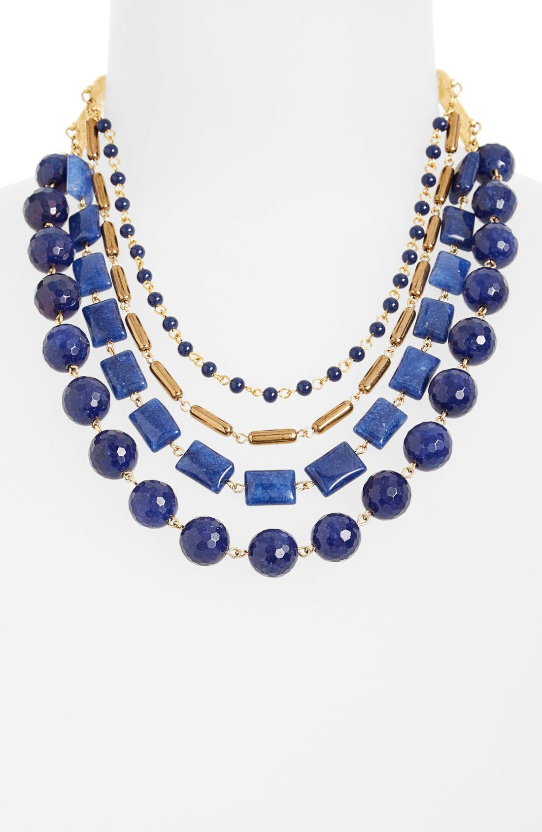 Alternate Image 1 Selected - David Aubrey Multistrand Stone Necklace