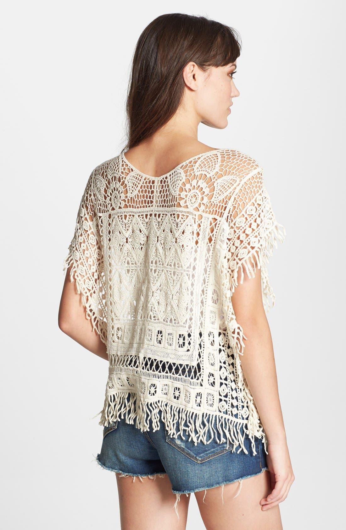 Alternate Image 2  - Raga Crochet Short Sleeve Poncho