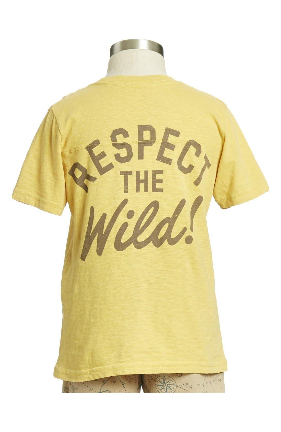 Alternate Image 2  - Peek 'Don't Feed the Bears' Slub Cotton T-Shirt (Toddler Boys, Little Boys & Big Boys)