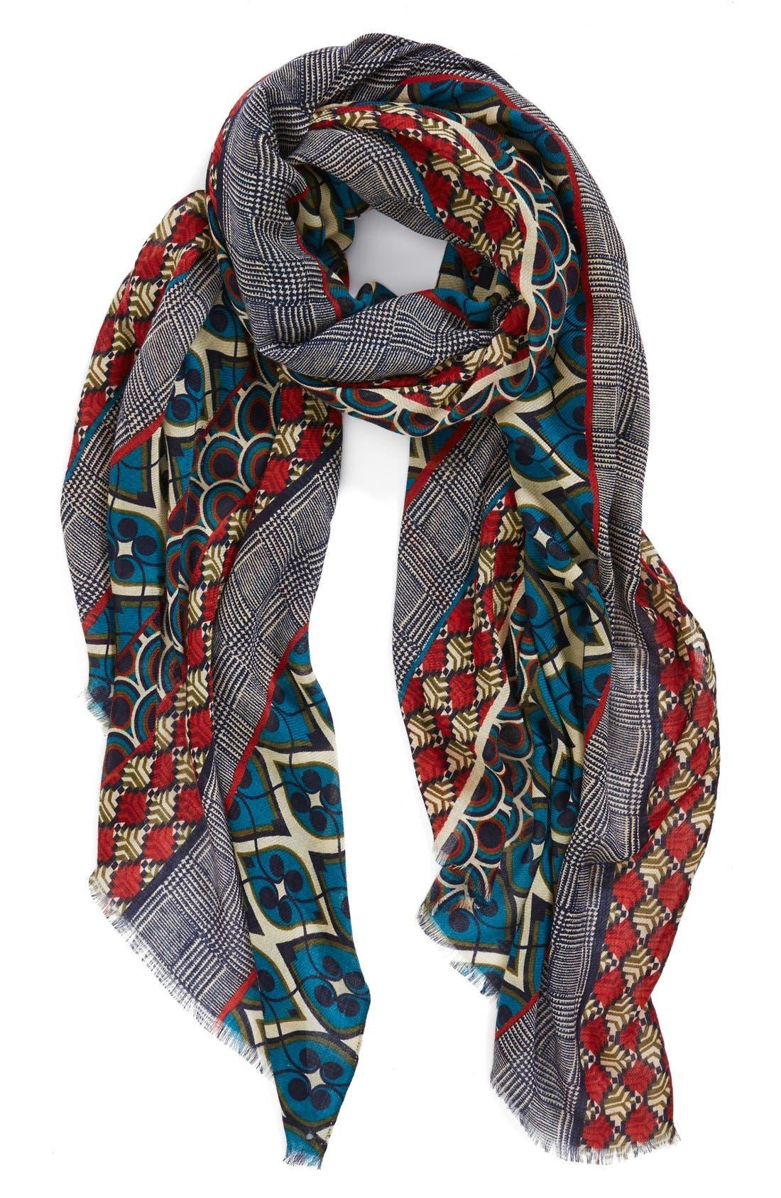 Main Image - Halogen® Foulard Stripe Scarf