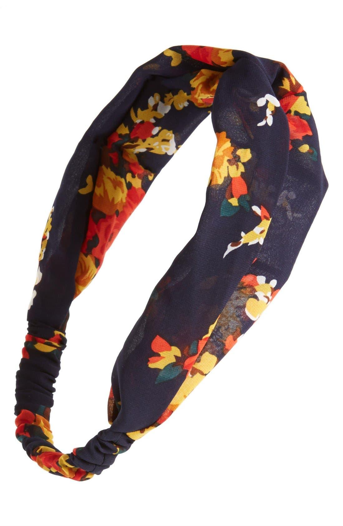 Alternate Image 1 Selected - Lulu Floral Head Wrap (Juniors)