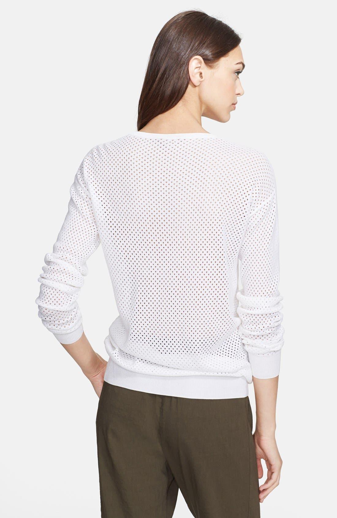 Alternate Image 2  - Theory 'Dreamerly C.' Cotton & Silk Sweater