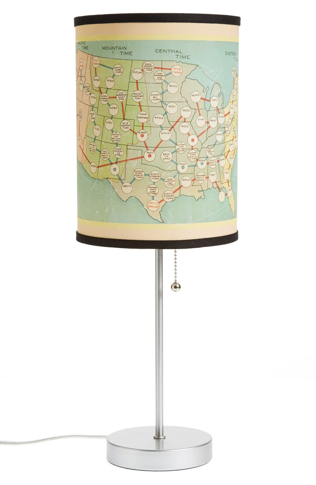 Main Image - LAMP-IN-A-BOX 'Radio Map' Table Lamp
