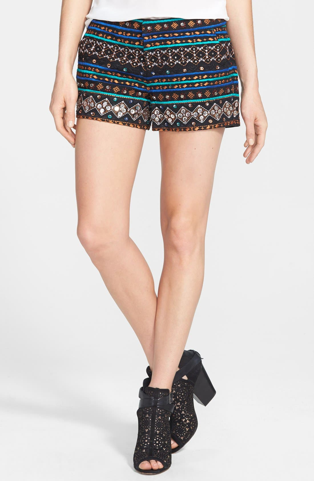 Alternate Image 1 Selected - Lucky Brand Embellished Cotton Shorts