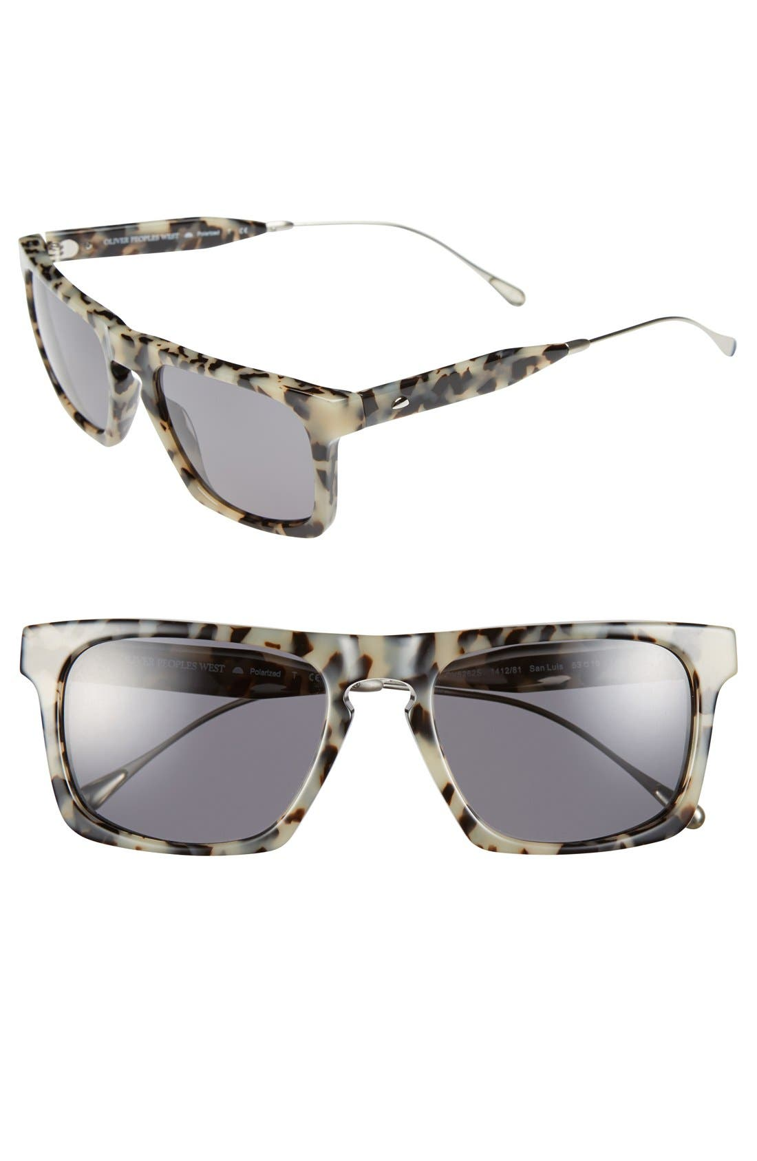 Alternate Image 1 Selected - Oliver Peoples West 'San Luis' 53mm Polarized Sunglasses