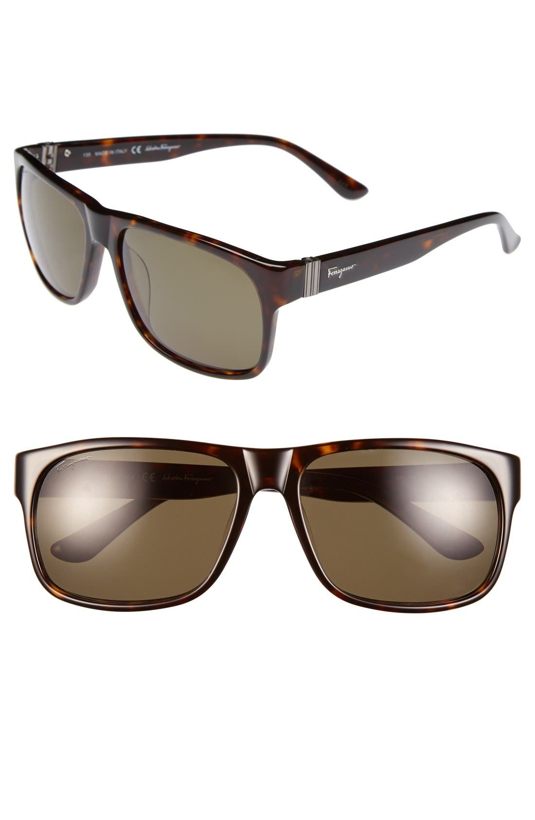 Main Image - Salvatore Ferragamo 57mm Sunglasses