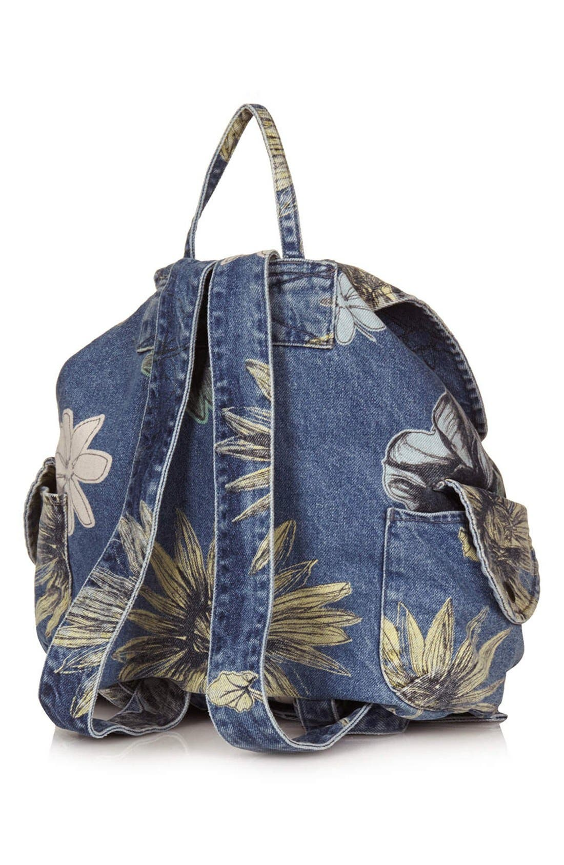 Alternate Image 4  - Topshop 'Mom' Floral Denim Backpack