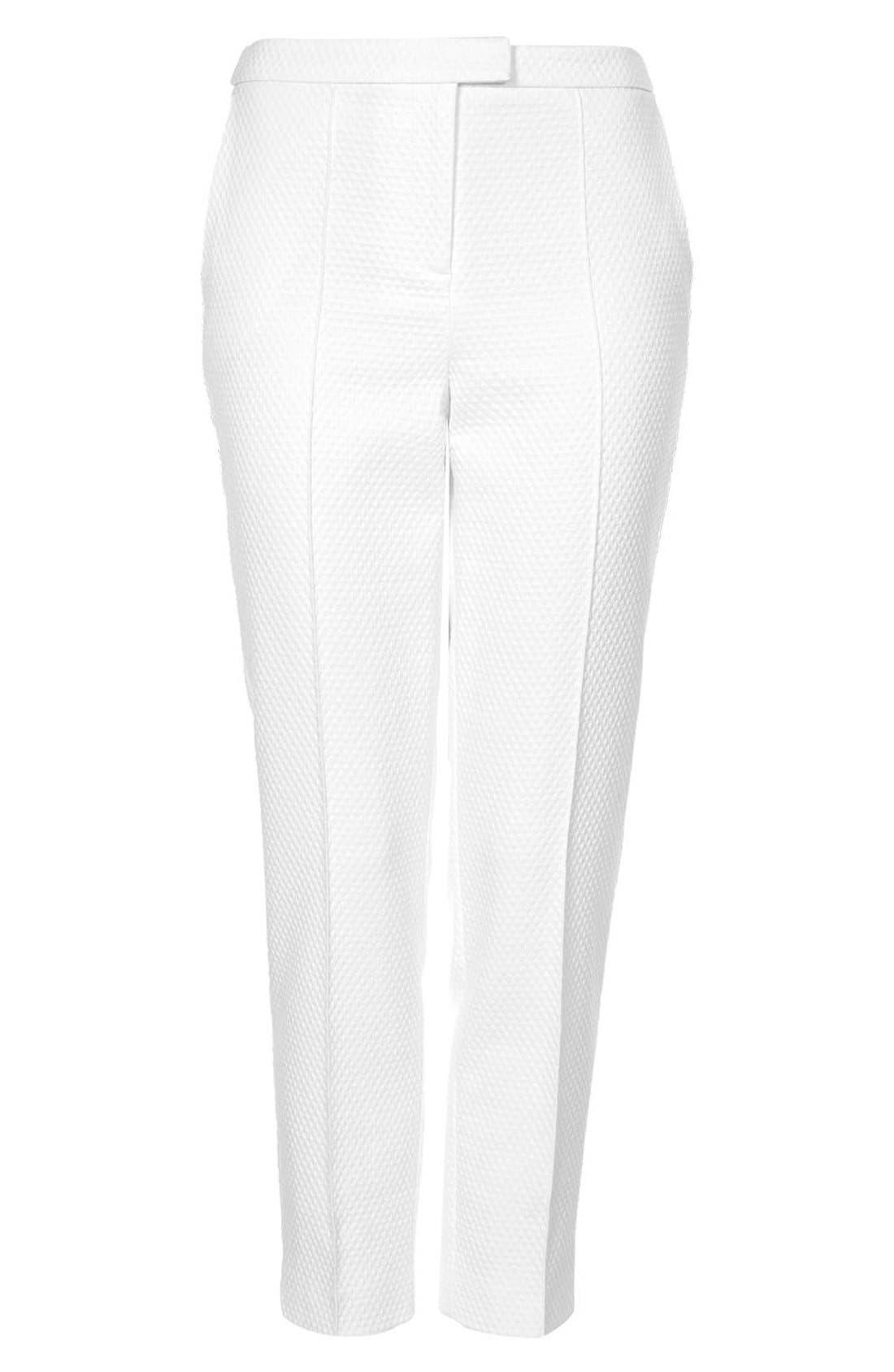 Alternate Image 3  - Topshop Textured Cigarette Pants