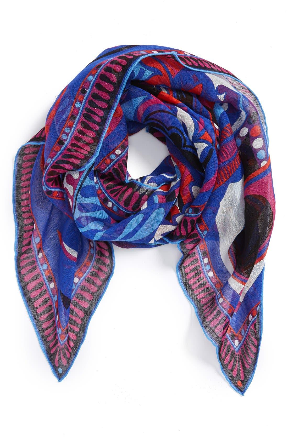 Alternate Image 1 Selected - Emilio Pucci 'Taitu' Linen & Cotton Scarf