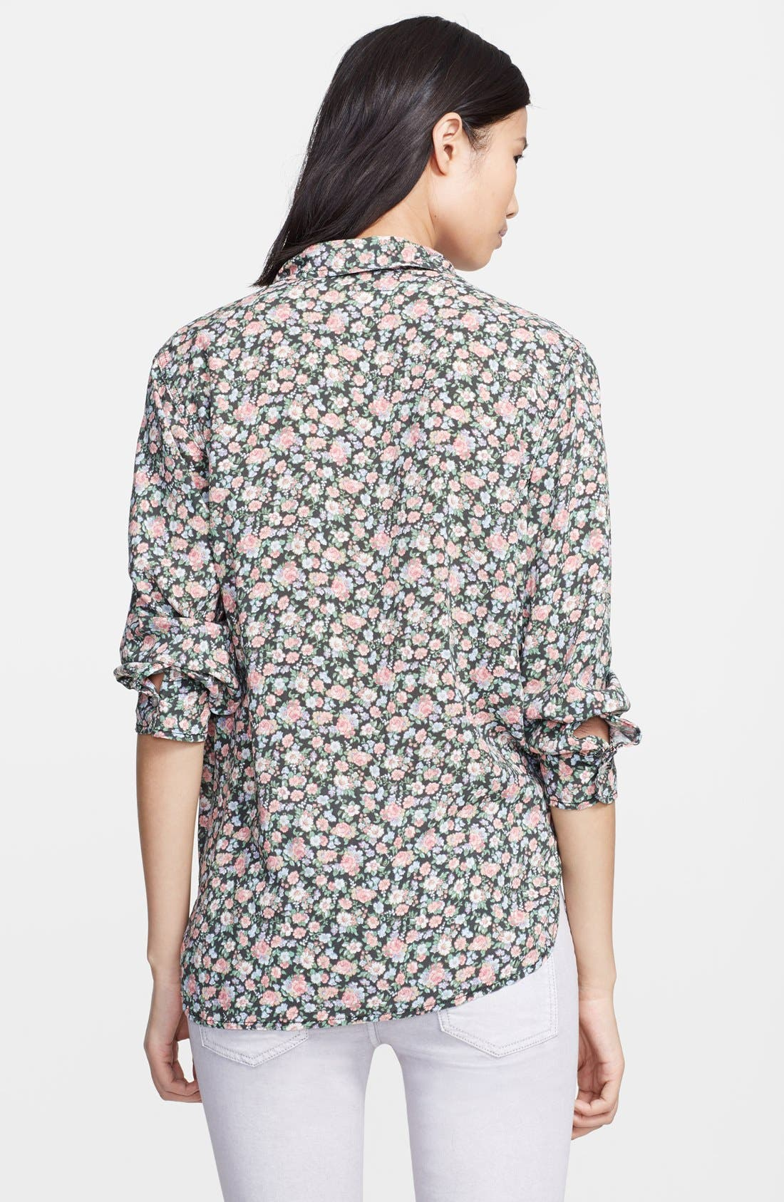 Alternate Image 2  - Current/Elliott 'The Perfect Shirt' Floral Print Shirt