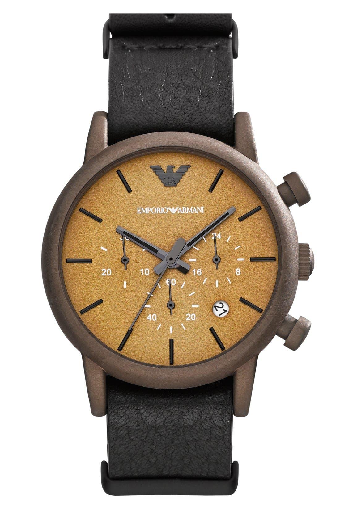 Alternate Image 2  - Emporio Armani Chronograph Watch & Interchangeable Strap Set, 41mm