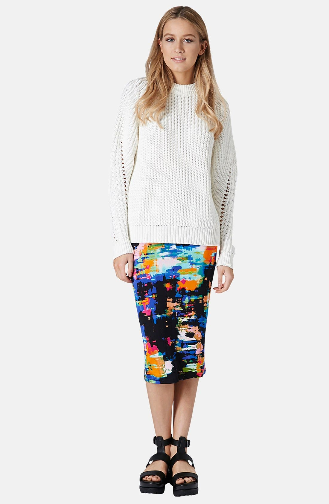 Alternate Image 5  - Topshop Print Tube Skirt