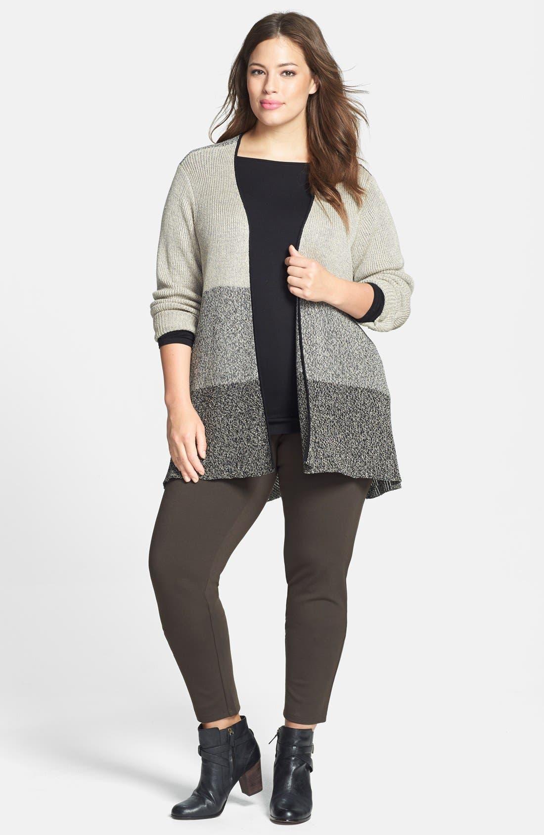 Alternate Image 3  - Eileen Fisher Wool & Linen Cardigan (Plus Size)