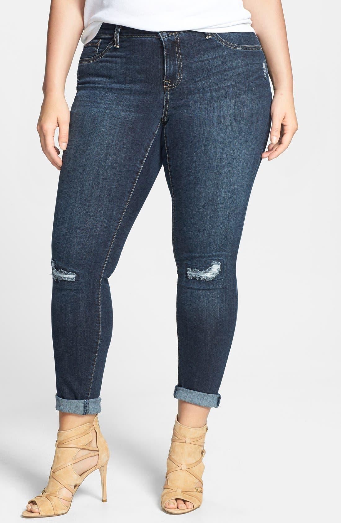 Main Image - Jessica Simpson 'Kiss Me' Stretch Skinny Jeans (Plus Size)