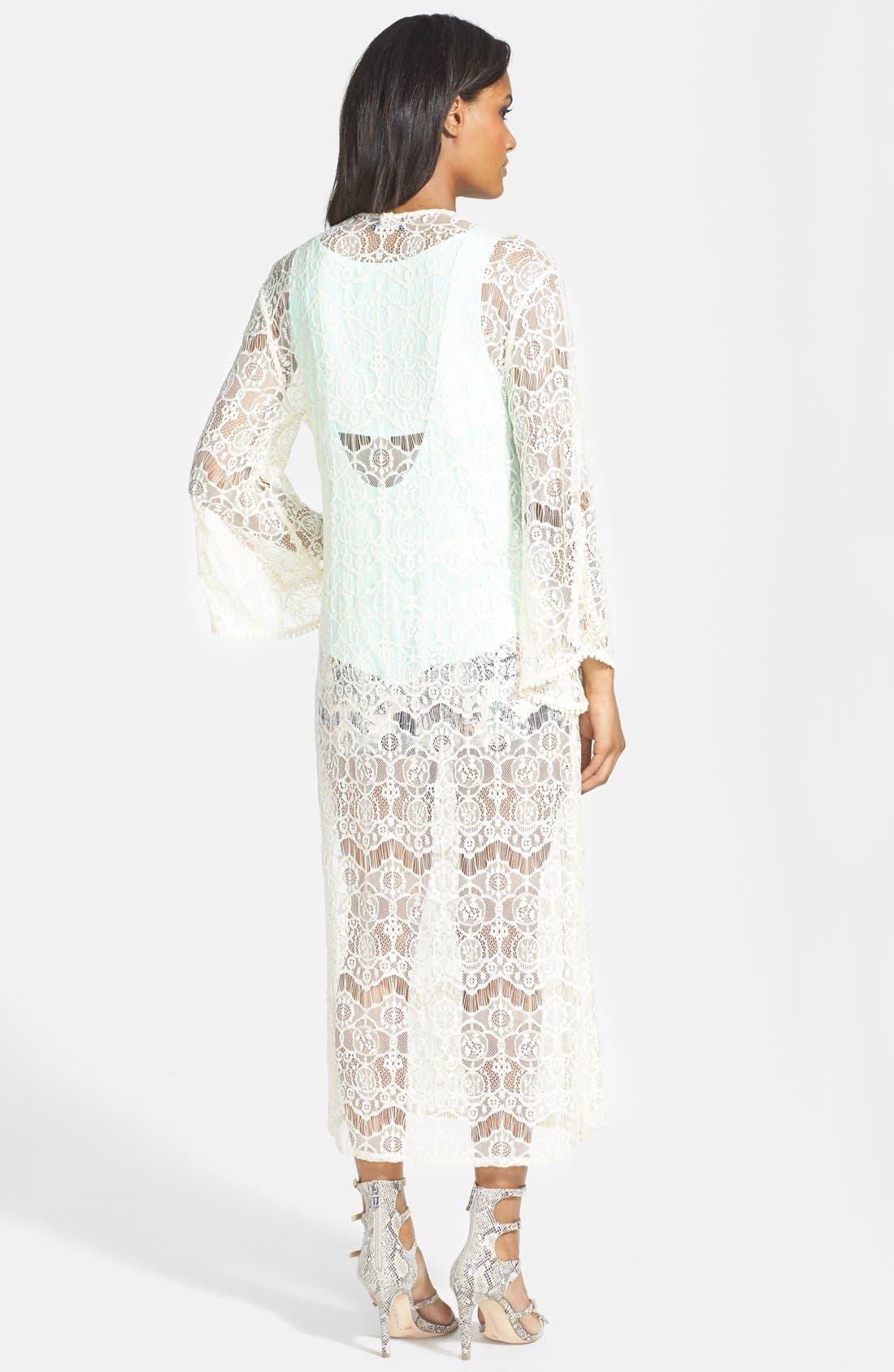 Alternate Image 2  - ASTR Lace Kimono Cardigan