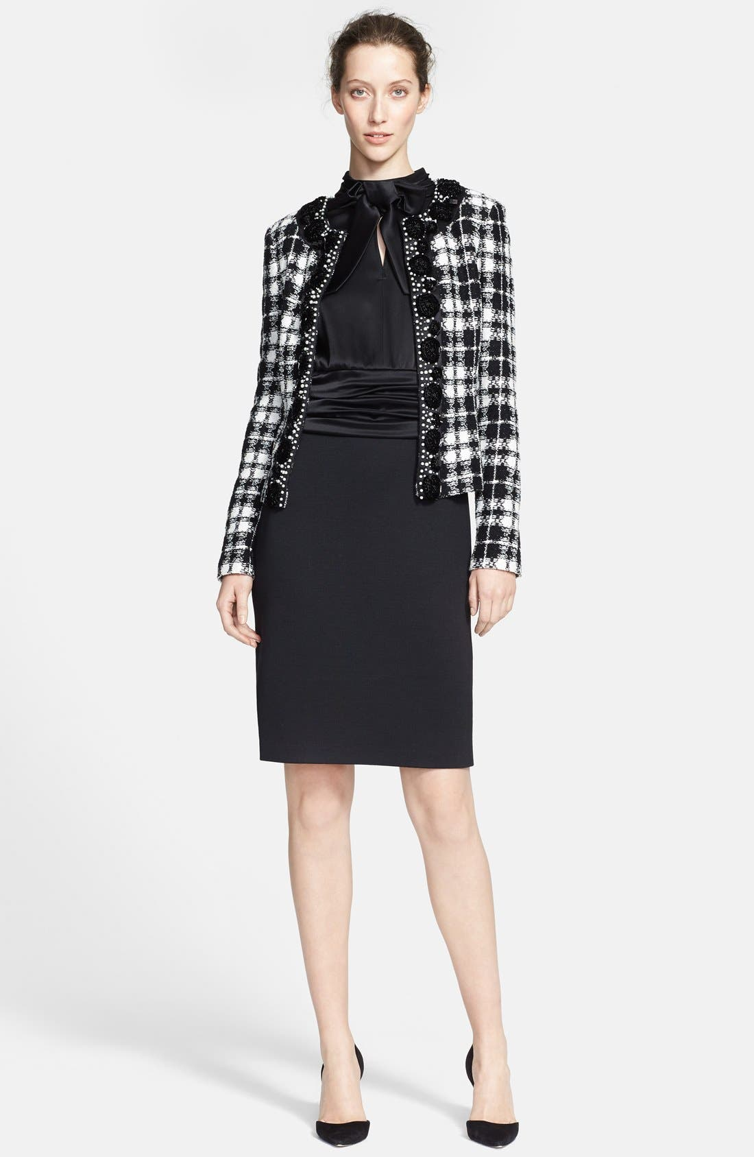 Alternate Image 4  - St. John Collection Plaid Knit Tailored Jacket