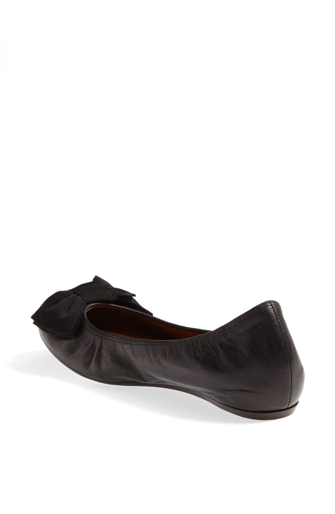 Alternate Image 2  - Lanvin Bow Ballerina Flat (Women)