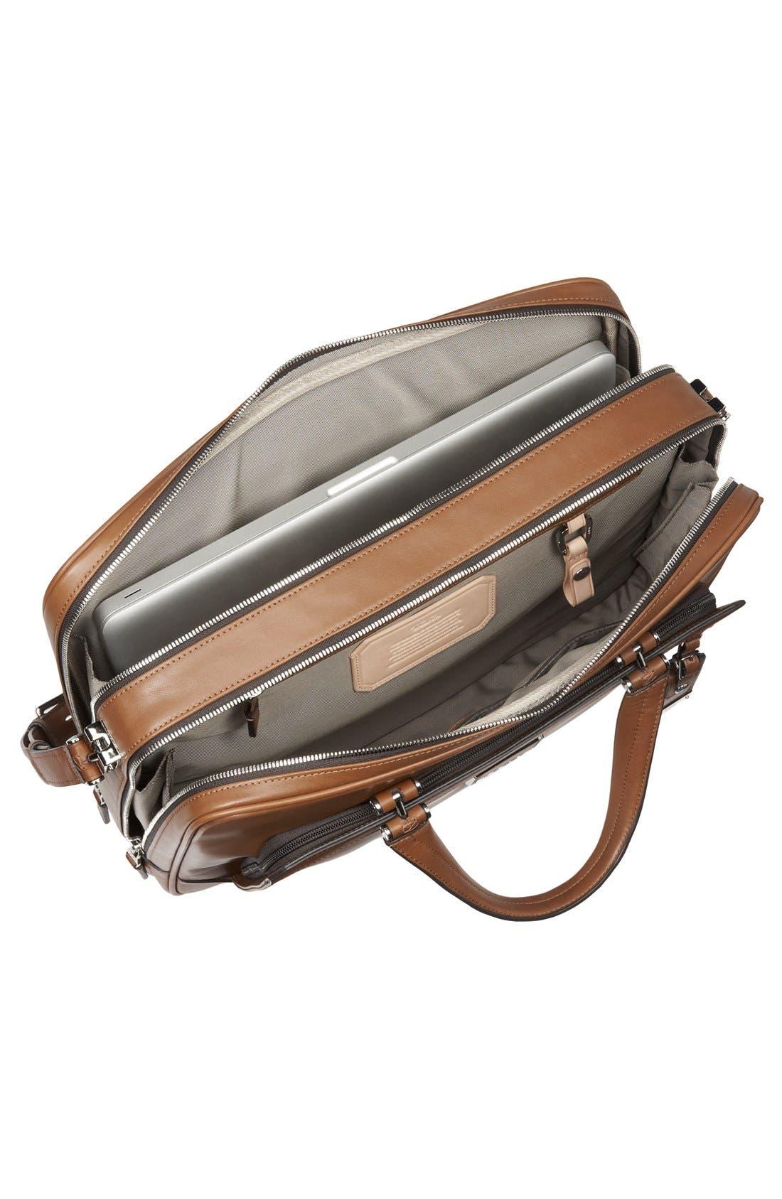 Alternate Image 6  - Tumi 'Astor Ansonia' Zip Top Vachetta Leather Laptop Briefcase (17 Inch)