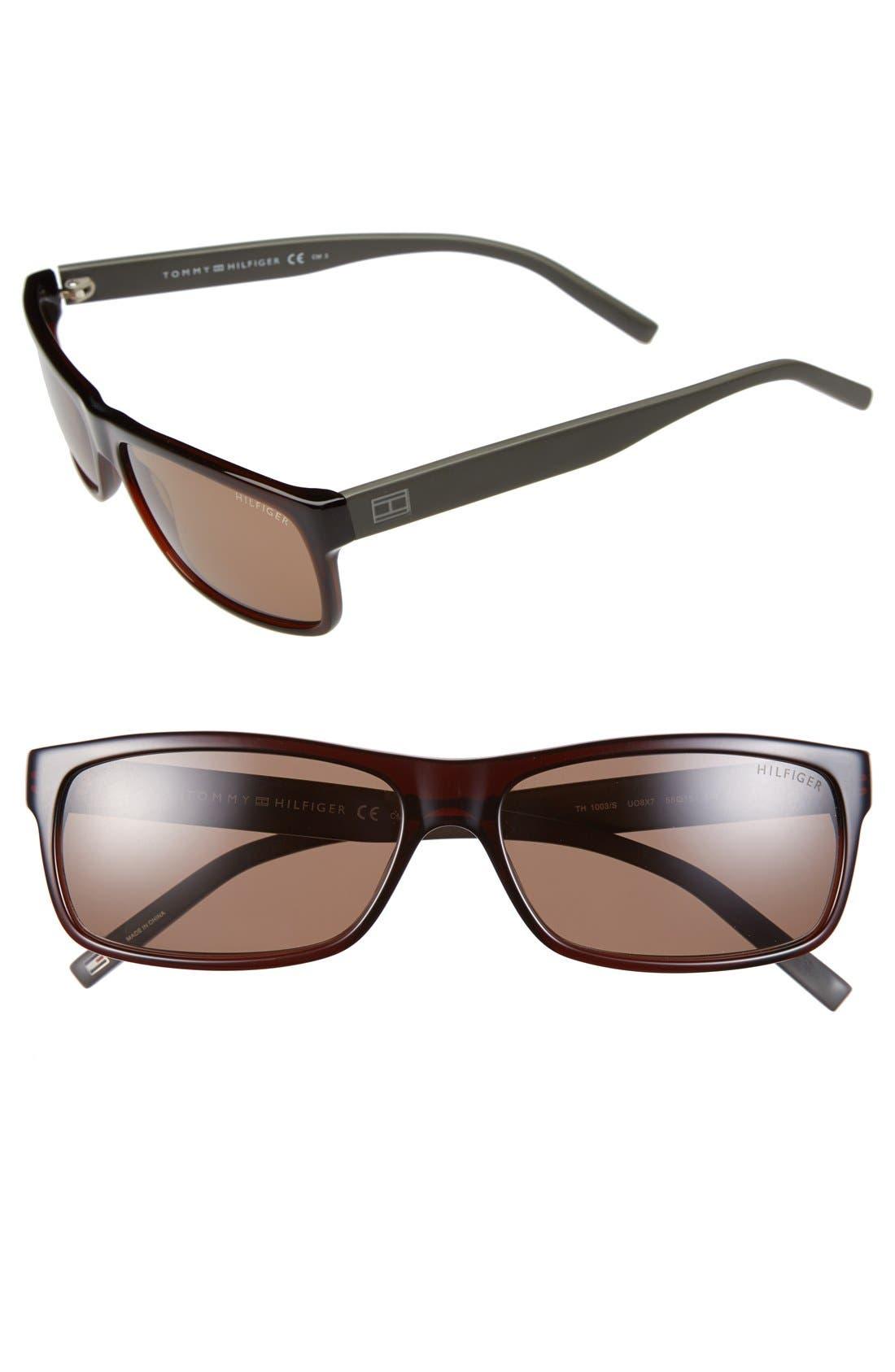 Main Image - Tommy Hilfiger 58mm Polarized Sunglasses