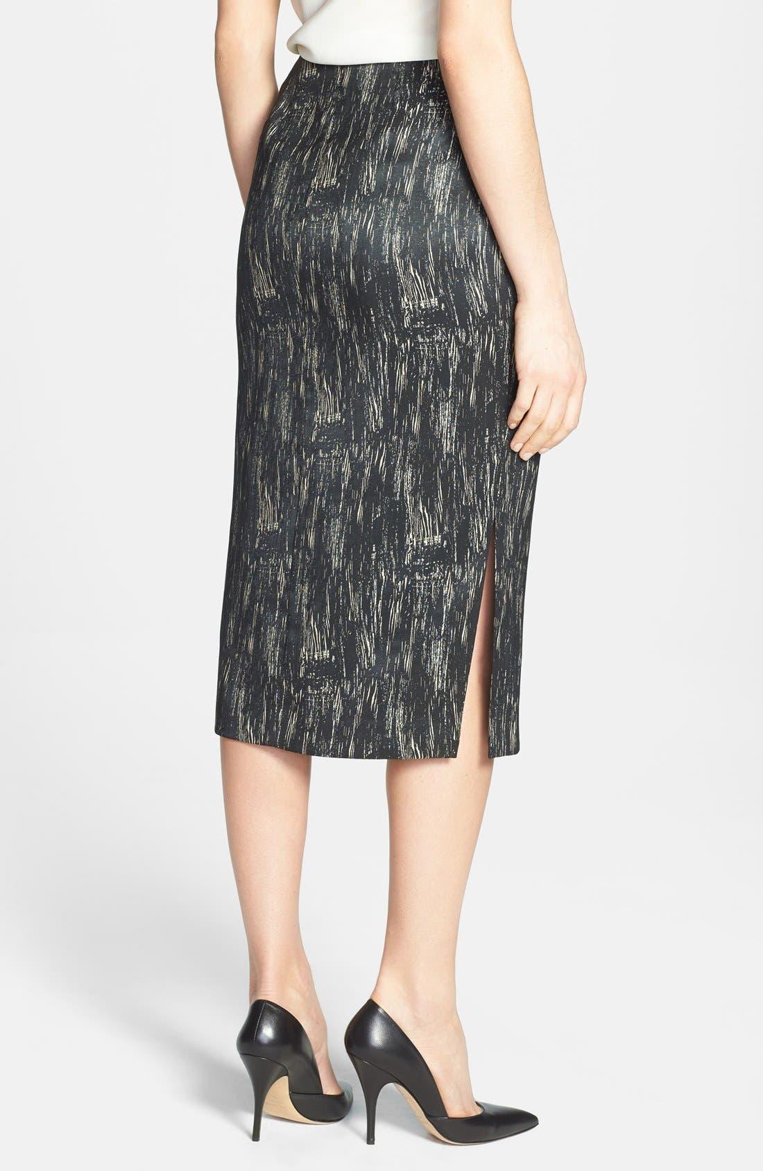 Alternate Image 2  - Lafayette 148 New York 'Dayna - Nocturnal Etching' Skirt