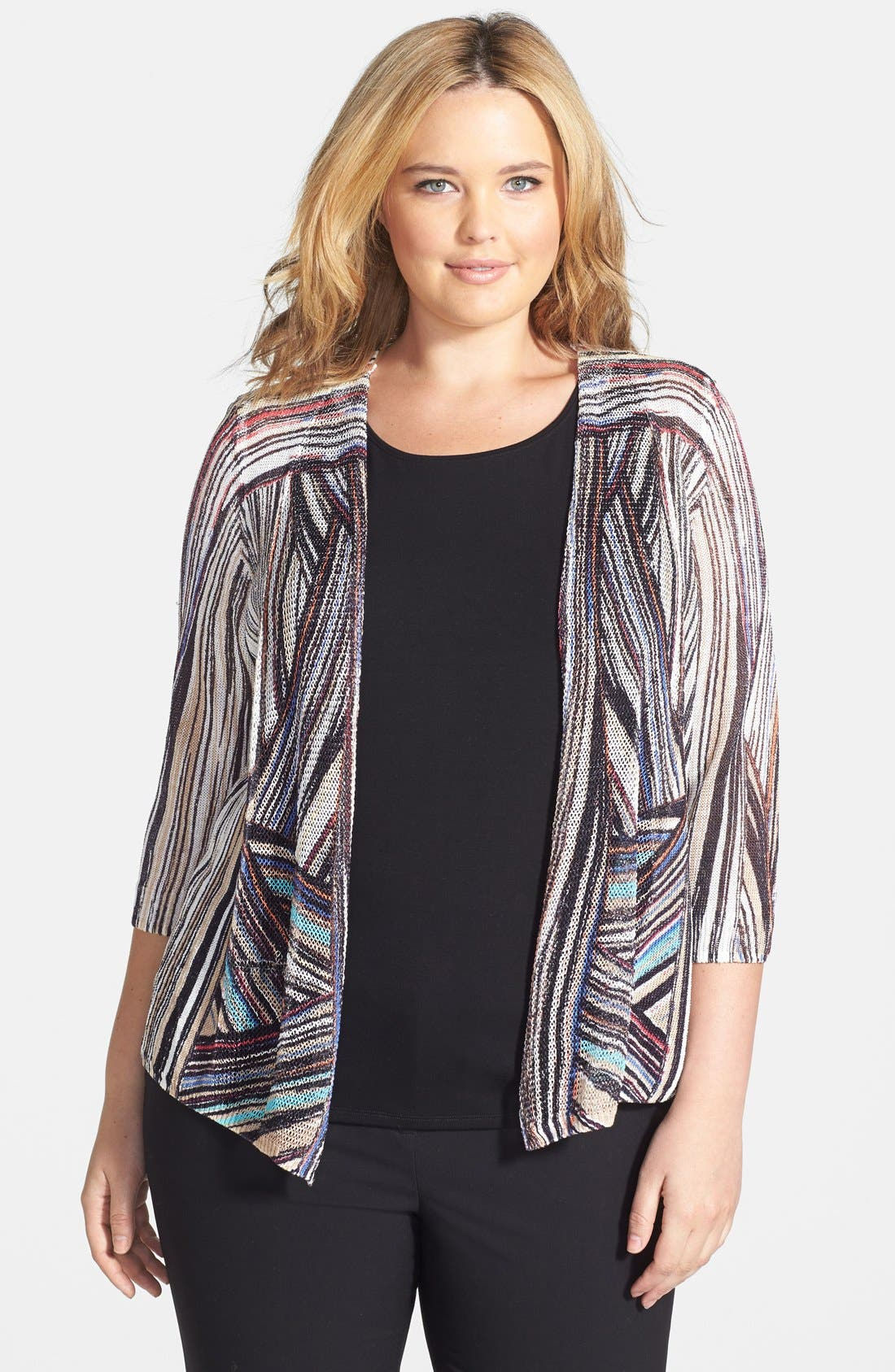Alternate Image 1 Selected - NIC+ZOE 'In the Streets' Cardigan (Plus Size)