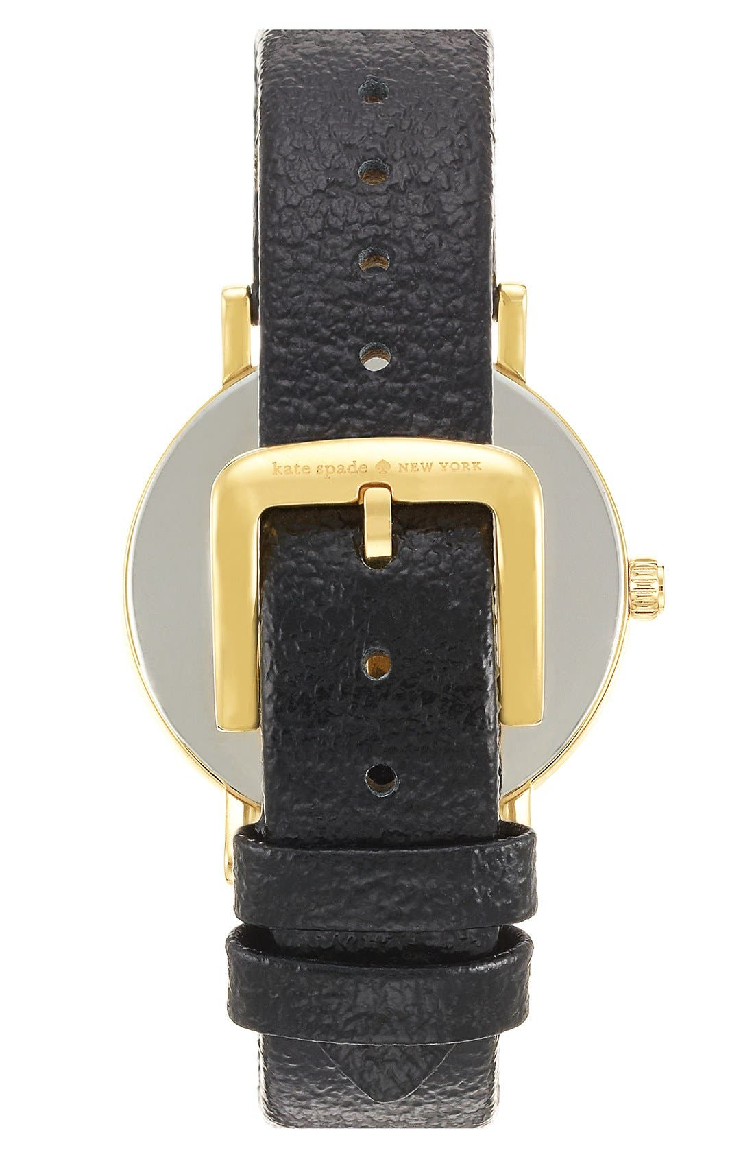 Alternate Image 2  - kate spade new york 'metro - music note' leather strap watch, 34mm