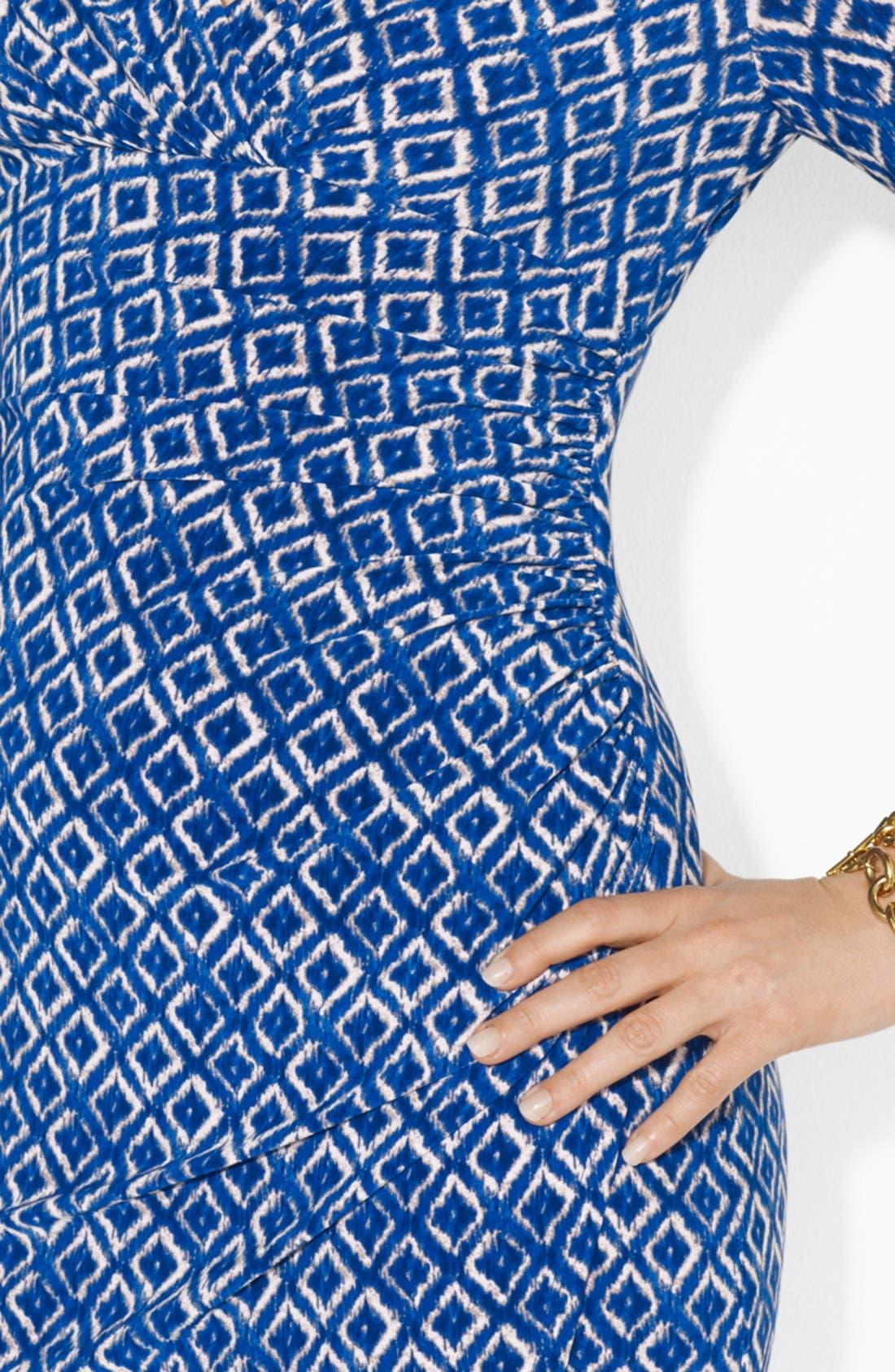 Alternate Image 3  - Lauren Ralph Lauren Ikat Print Matte Jersey Dress (Plus Size)