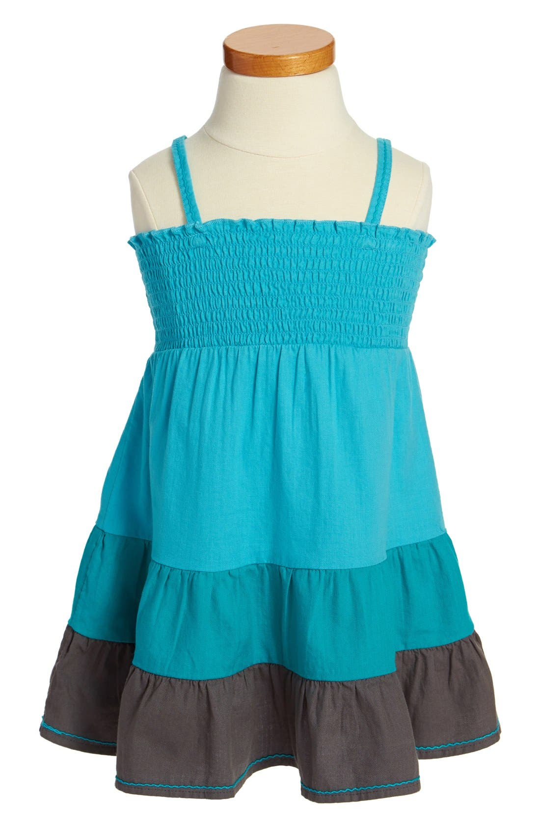 Alternate Image 1 Selected - Roxy 'Block Party' Sleeveless Dress (Toddler Girls)