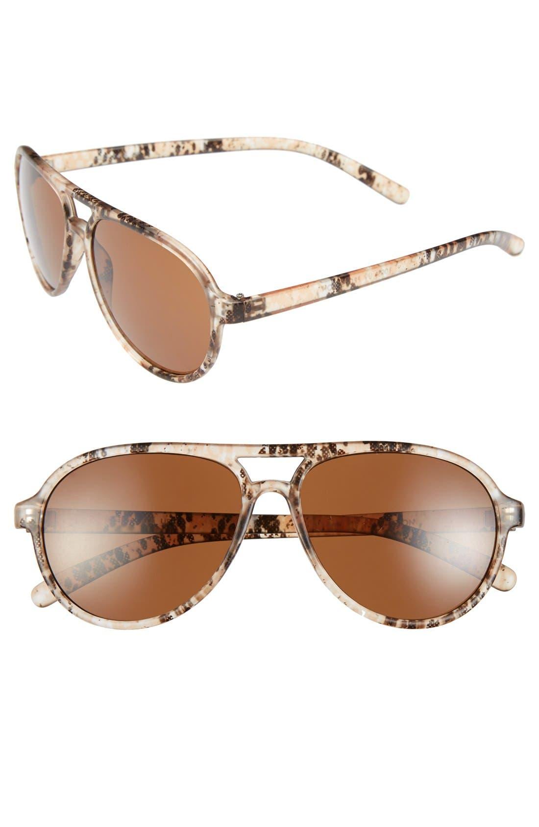 Main Image - FE NY 'Animal' 56mm Aviator Sunglasses