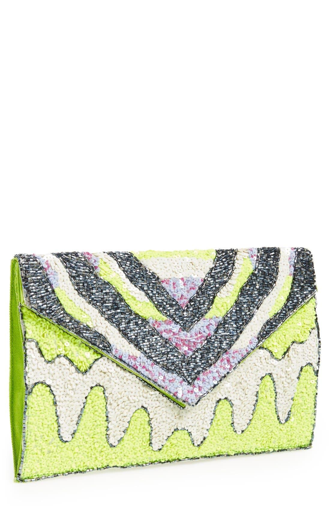 Alternate Image 1 Selected - Nila Anthony Beaded Envelope Clutch