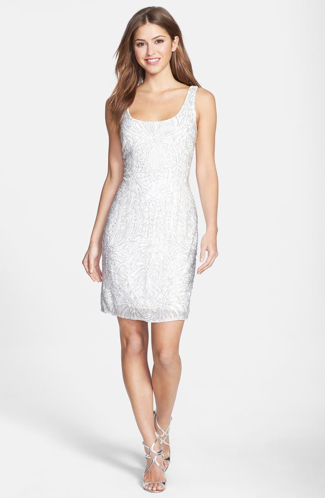 Alternate Image 3  - Aidan Mattox Short Beaded Dress