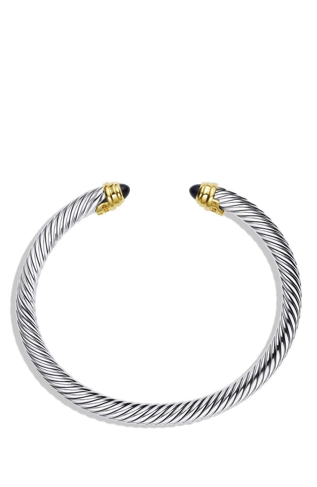 Alternate Image 2  - David Yurman 'Cable Classics' Bracelet with Semiprecious Stones & Gold