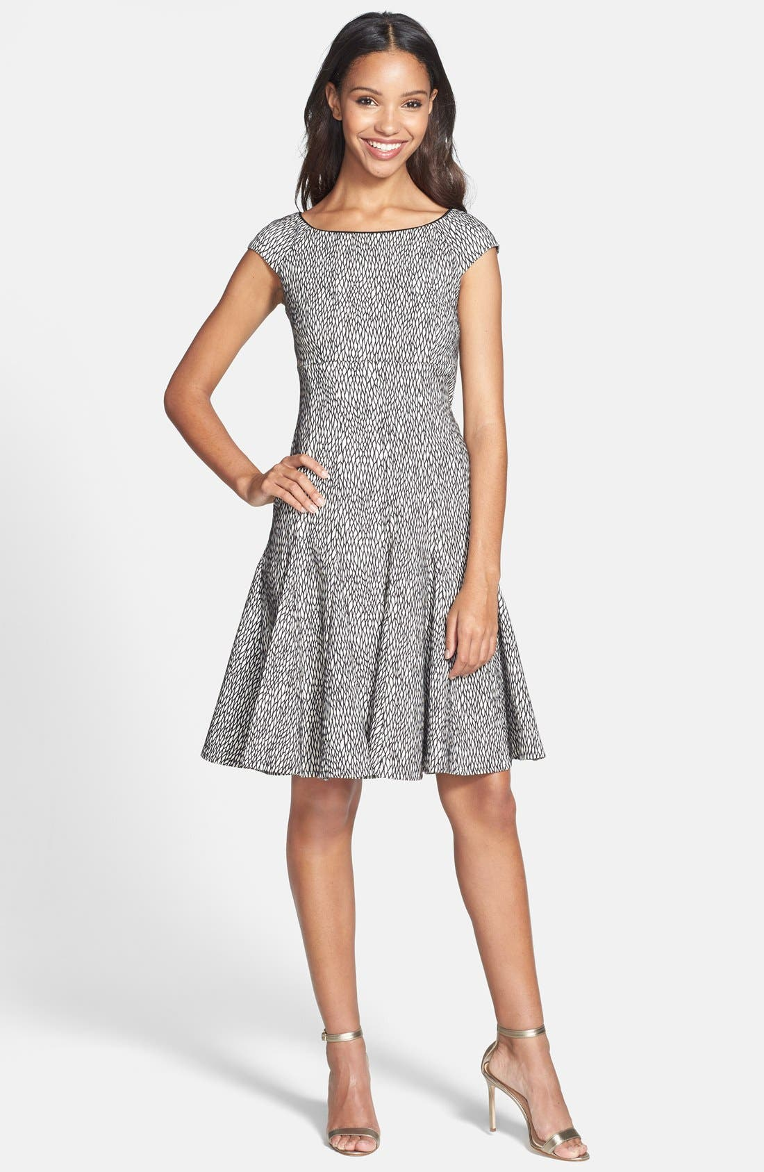 Alternate Image 3  - Gabby Skye Jacquard Fit & Flare Dress