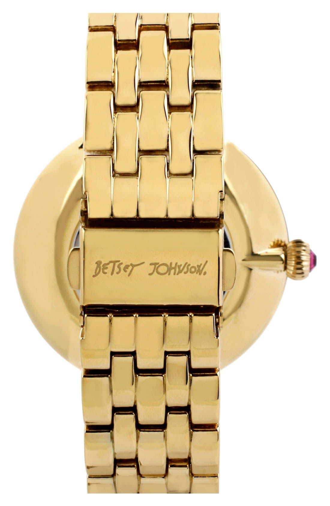 Alternate Image 2  - Betsey Johnson Pavé Dial Bracelet Watch, 43mm