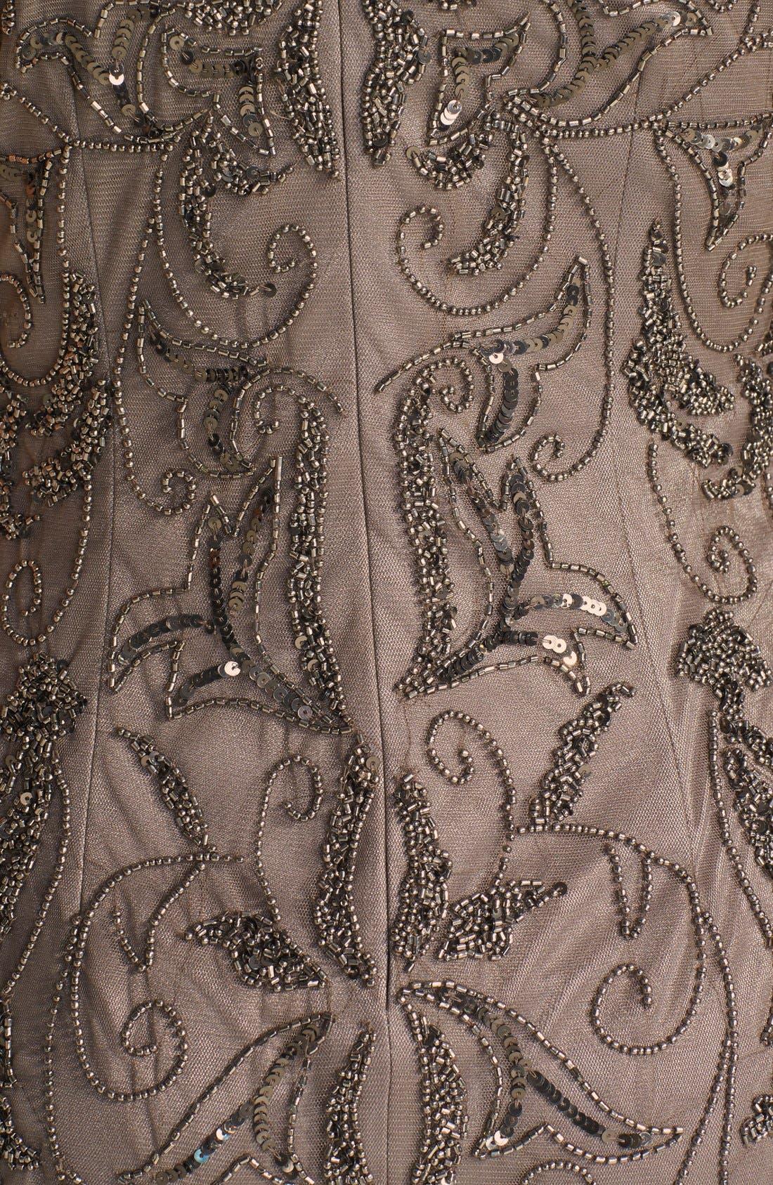 Alternate Image 4  - Adrianna Papell Beaded Mesh Dress (Regular & Petite)
