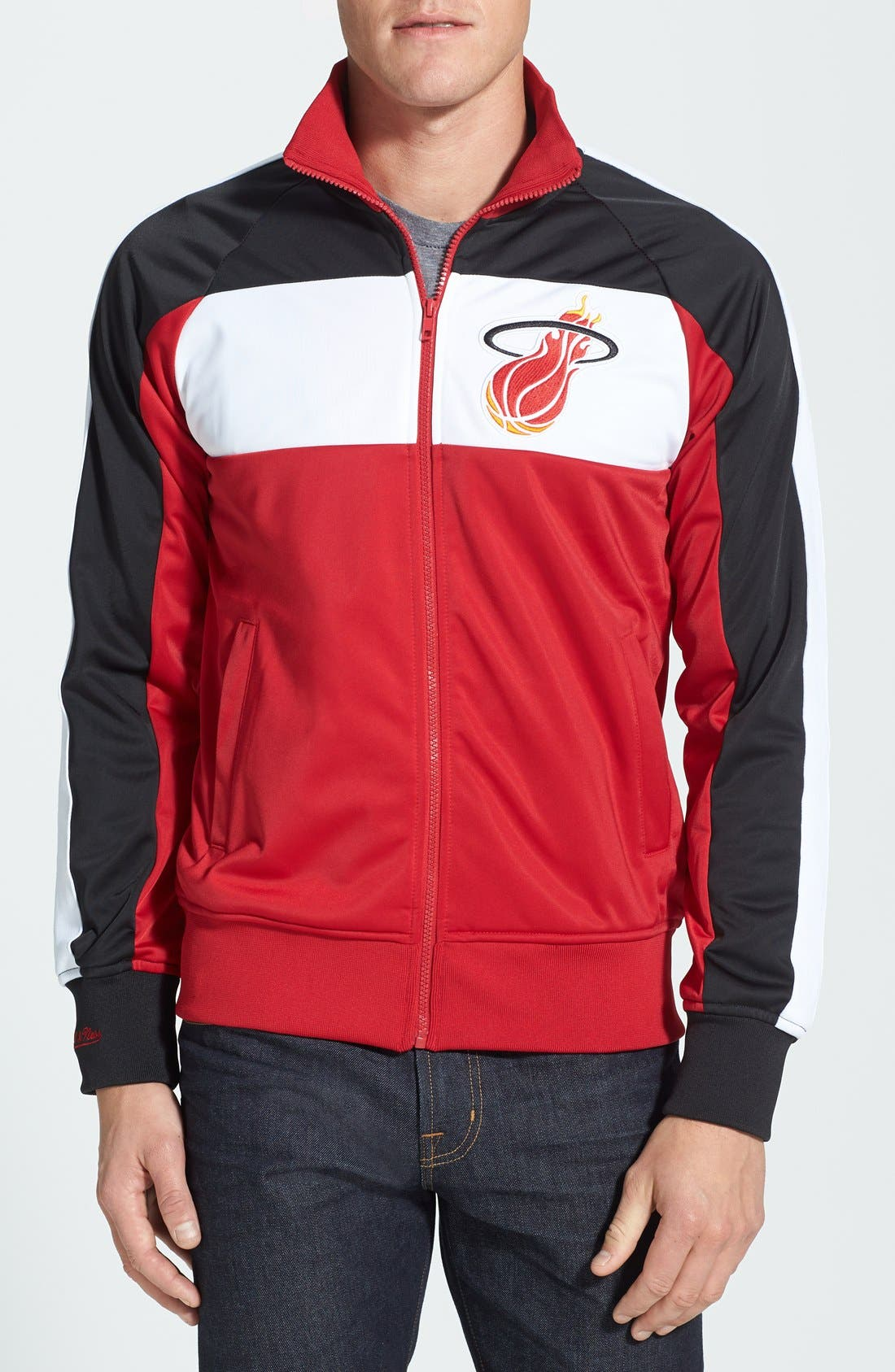 Main Image - Mitchell & Ness 'Miami Heat - Home Stand' Tailored Fit Track Jacket