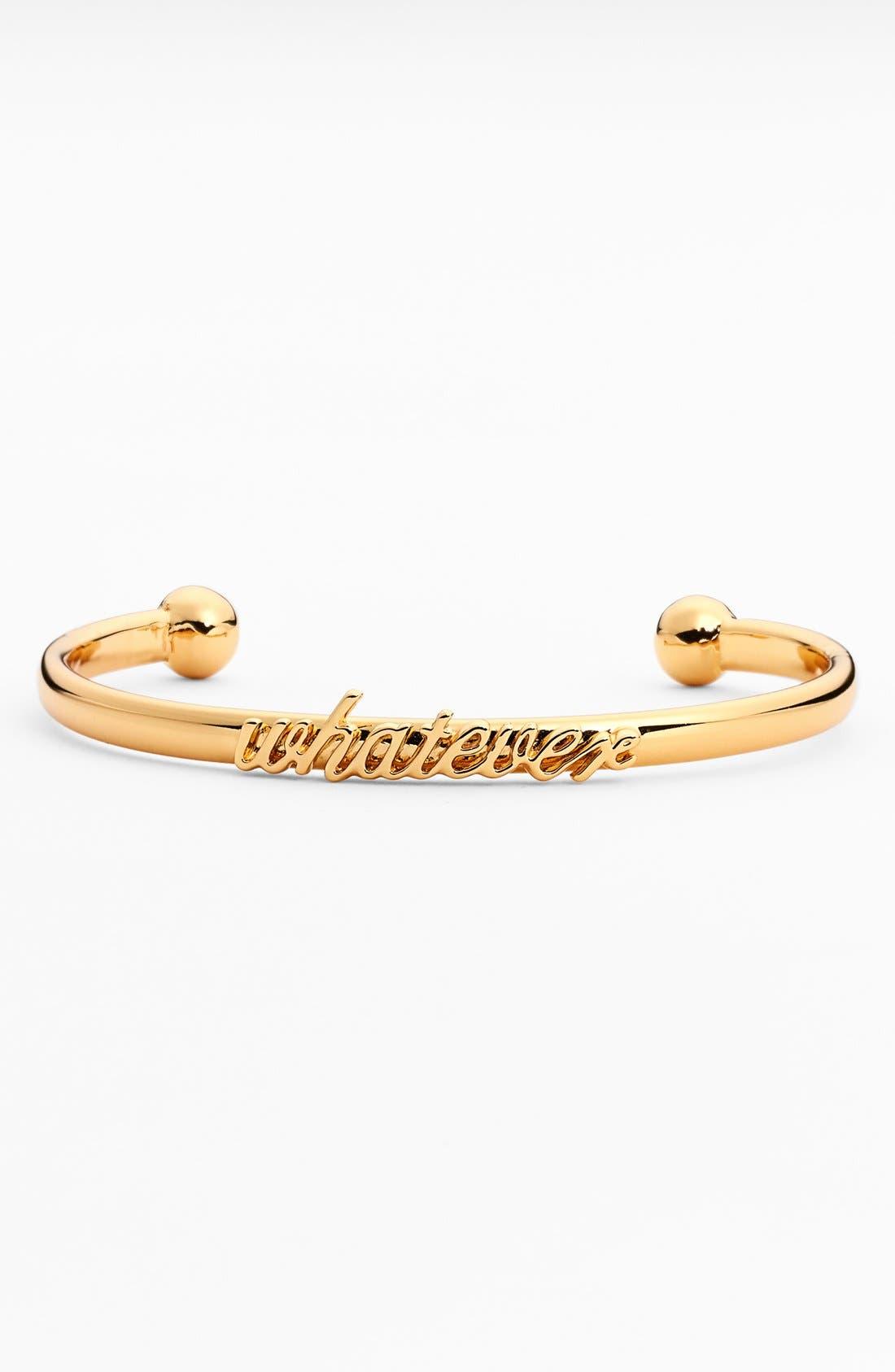 Main Image - kate spade new york 'whatever' script cuff bracelet