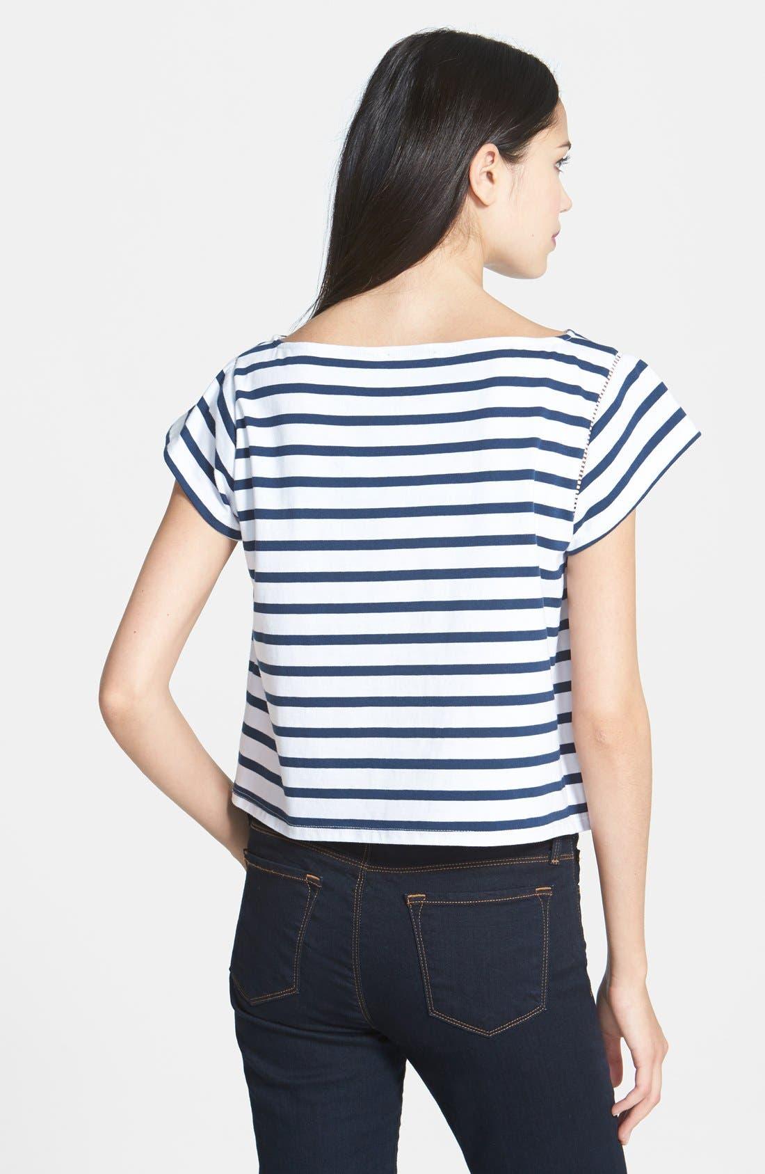 Alternate Image 2  - Milly Stripe Jersey Tee